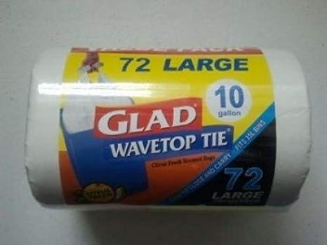 Amazon.com: Glad wavetop Tie bolsas de basura 10 galones ...