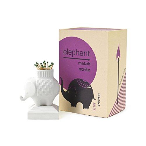 Jonathan Adler White Porcelain Match Strike Elephant