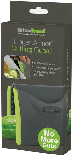 Urban Trend Finger Armor Cutting Guard - Securely Grip Fruit and Vegetables - Safely Protects Your Fingers - Guided Slicing for Event and Clean Cuts - Made Out of Silicone