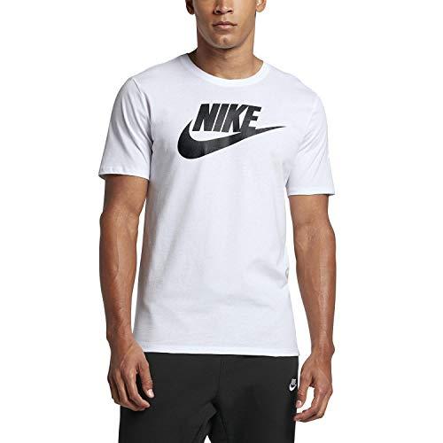 9c3d4825d471 NIKE Mens Futura Icon T-Shirt White Black 624314-104 Size Medium