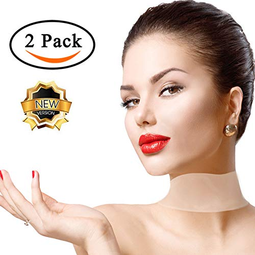 2 Pack Silicone Care Neck Pad,Coolar 100% Medical Grade Upgrade Viscosity Reusable Overnight Anti Wrinkle Decollette Pads for Neck Wrinkle,Eliminate And Prevent Neck Wrinkles Smoothing Kit