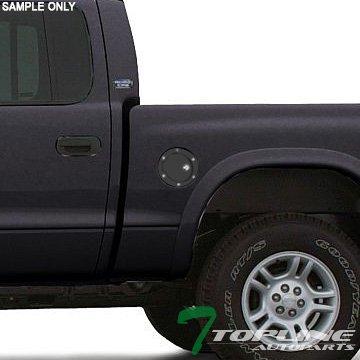 Topline Autopart Matte Black Aluminum Gas Door Cover With Lock For 94-01 Dodge Ram 1500 ; 94-02 2500/3500 ; 97-05 Dakota