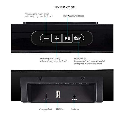 TV Sound Bar XGODY 20'' G-XS01 Wireless Wired Audio Surround Soundbar Bluetooth 5.0 Speaker with 2.0 Channel Sound System by XGODY (Image #4)