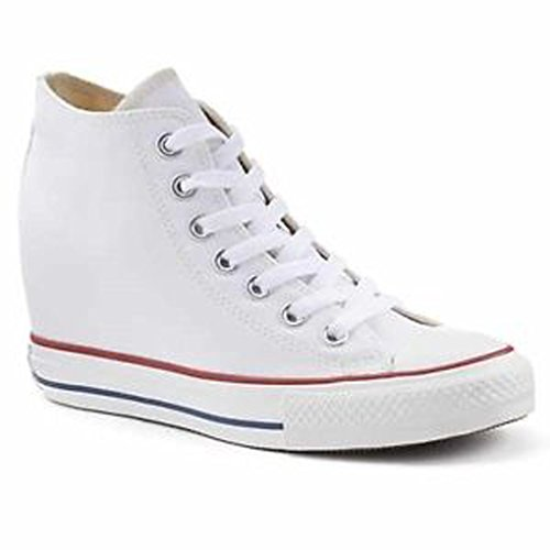 Converse Women's Chuck Taylor Lux Mid White Casual Shoe 9 Women US