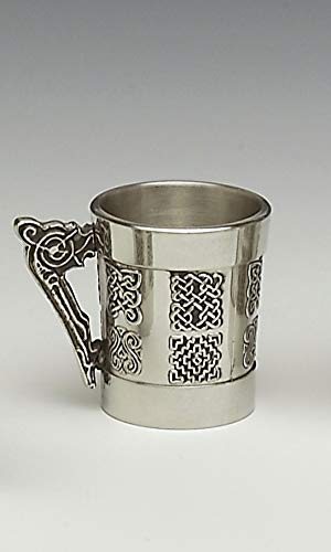 - Mullingar Pewter Whiskey Measure With Celtic Handle And Celtic Design