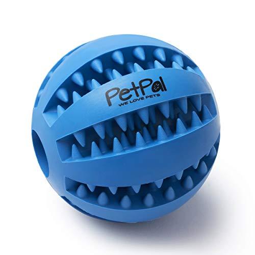 PetPäl Hundeball mit Zahnpflege-Funktion Noppen Hundespielzeug aus Naturkautschuk - Robuster Hunde Ball Ø 7cm - Hundespielball für Große & Kleine Hunde - Kauspielzeug aus Naturgummi für Leckerli
