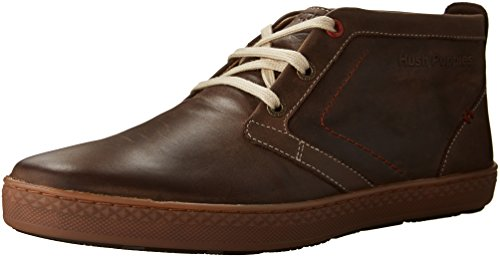 Hush Puppies Men's Gresham Roadcrew Chukka Boot, Dark Brown Leather/Gum, 11.5 M US