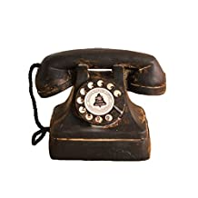 Archaize Wheel Dial Telephone Resin Crafts Old Telephone Dial Phone Model Vintage Retro Home Decoration Bar Office Ornament