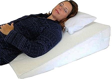 orthologics large bed wedge raised pillow acid reflux gerd memory foam back ol9 - Bed Wedge For Acid Reflux