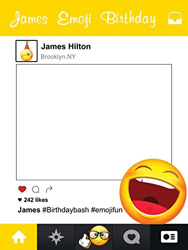 Custom Emoji Social Media smiley Face Happy Birthday Photo Booth Prop - sizes 36x24, 48x36; Pesonalized Large Yellow Emoji Home Decorations, Handmade Party Supply Photo Booth (Handmade Halloween Decorations)