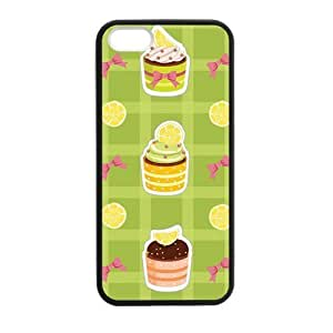 Cake Orange Case for iPhone 5 5s protective Durable black case