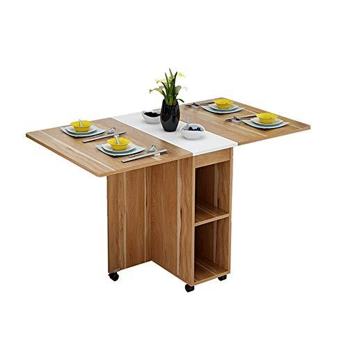 Chlyuan-hm Mesa Extensible de Comedor Mesa De Comedor Plegable Multifuncional Y Silla Combinada Pequeno Apartamento Mesa De Comedor Retractil para El Hogar para la Cocina casera