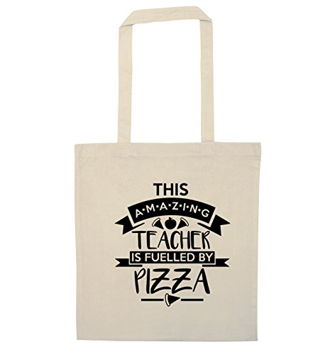 Flox Teacher Fuelled Tote Creative Bag by Amazing Pizza Natural This ZPZ1rw7q