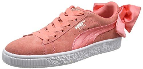 Wn's Zapatillas Pink Bow Puma shell Suede Para Mujer Rosa 74wqRwxE