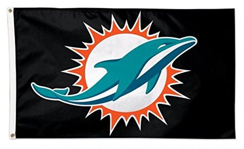 (Stockdale Miami Dolphins WC BLACK w/Logo Premium 3x5 Flag Outdoor House Banner Football)