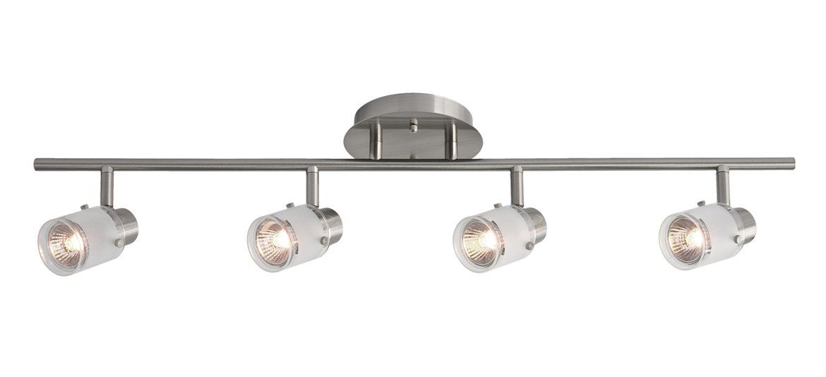 Radionic Hi Tech K_TKL_8778 Becca 4 Light Brushed Nickel Track Light, 29.5''