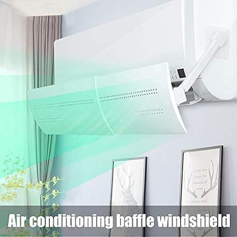 Alextry - Deflector de Viento frío Que sopla Directamente contra el Escudo de Viento de Aire Acondicionado retráctil: Amazon.es: Hogar