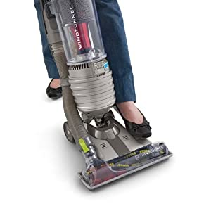Hoover WindTunnel Air Bagless Upright Corded Lightweight Vacuum Cleaner - in use peddles