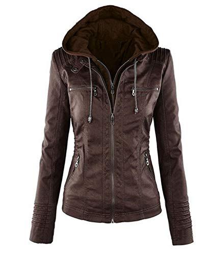 In Pelle Basic Coat Abbigliamento Jacket Giacca Cappuccio Warm Con Size Plus Donna Casual Smilesi Cappotti Outwear 4xqgTH7ww