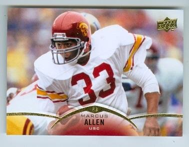 Marcus Allen Autograph - Marcus Allen football card (University of Southern California Trojans) 2015 Upper Deck #2