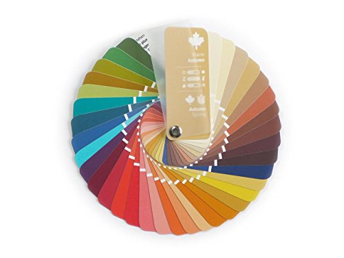 Compact Color Swatch Fan Warm Autumn with 35 Colors for Color Analysis and Image ()
