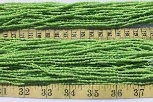 10/0 Hank Seed Bead Czech - Opaque Pale Green 10/0 Czech Glass Seed Beads Craft Jewelry/Hank Spacer Beads and Roll Crystal String for Bracelets Jewelry Making