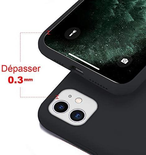 Coque pour iPhone 11 Silicone Liquide avec Protecteur d'écran Gratuit Housse Protective Etui Anti