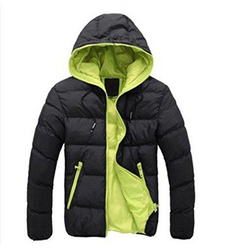 Verde inverno Dritto I Dei Nero In Hhy Combattere Cappotto Uomini Cappuccio Cotone Con 3xl Nostri Vestiti O4Twq
