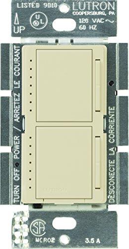 - Lutron Maestro Dual Dimmer Switch for Incandescent and Halogen Bulbs, 300-Watt, Single-Pole, MA-L3L3-AL, Almond