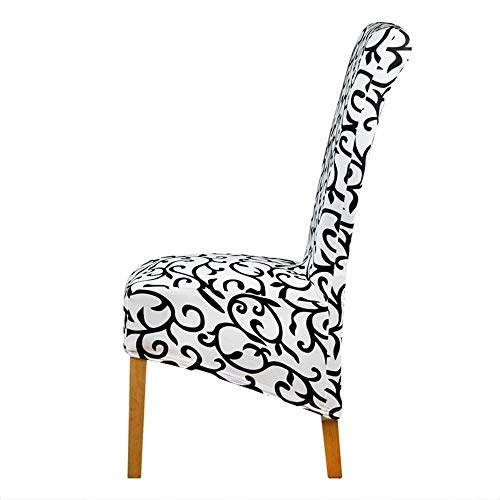 Hakazhi White and Black Long Back Size Chair Cover Checked Pattern Chair Covers seat Cover Hotel Party Banquet housse de Chaise Decor