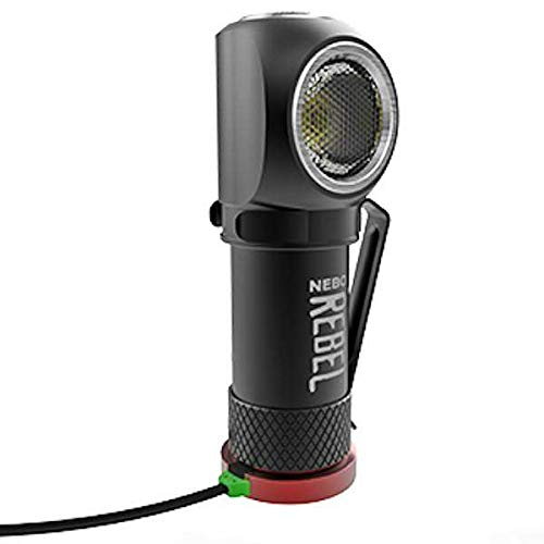 NEBO 6691 - REBEL - 600 Lumen Head Lamp + Task Light - Fully Rechargeable - Magnetic Base - Removable Steel Clip
