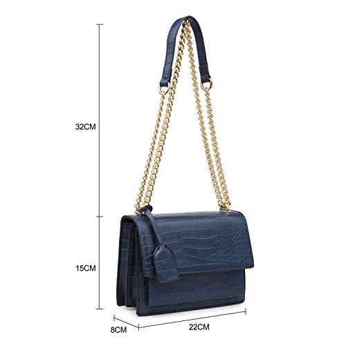 Long Multi pocket Strap Shoulder New Bags Envelop grey Design Ladies Women Craze Shoulder Croc London Bag RHqTv