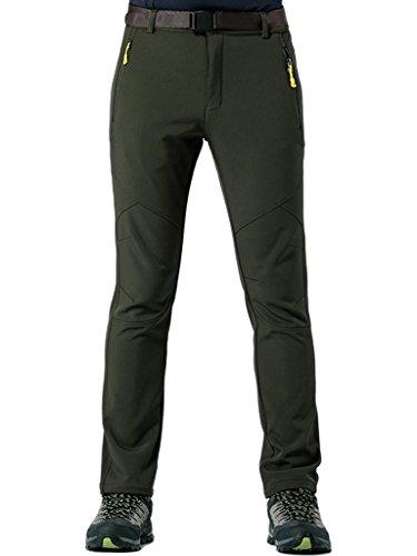 KING Shield Men's Windproof Climbing Hiking Pants Soft Shell Pant (US 30, 23#Green)