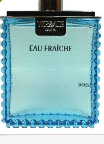 Versace Eau Fraiche 3.4 Oz Edt Spray Tester for Men New & Unbox By Versace