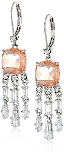 Carolee Blushing Bride Collection Women's Mini Chandelier Drop Earrings, Silver/Lt (Collection Chandelier Earrings)