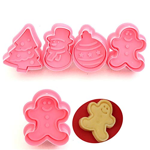 Novelty Cute Shape Cake Silicone Mold DIY Handmade Cupcake Baking Craft Art Pans Snowflake Cookie Mould Flexible siliconeBiscuit Mold Cake Trays (Pink) ()