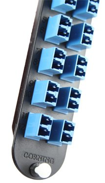 Singlemode Duplex Ceramic - Corning LANscape CCH Patch Panel with 12 LC Duplex OS2 Singlemode Adapters (Ceramic Insert) CCH-CP24-A9