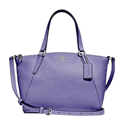 New Coach F28994 Mini Kelsey Satchel Pebble Leather Purse Handbag Light Purple