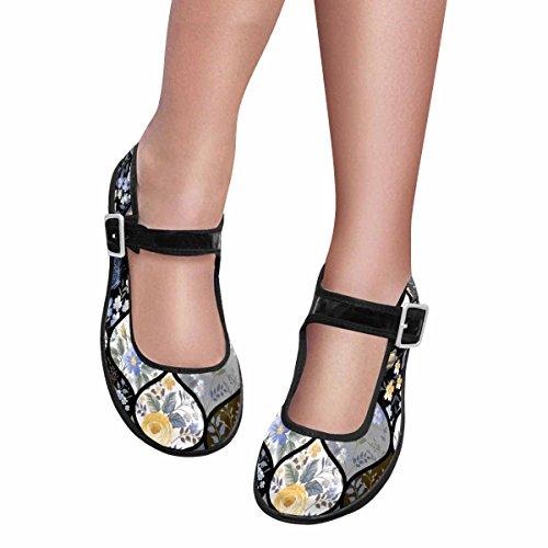InterestPrint Womens Comfort Mary Jane Flats Casual Walking Shoes Multi 11