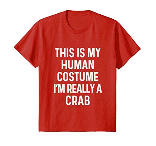 Kids Funny Crab Costume Shirt Halloween Adults Kids Men Women 12 (Mens Halloween Costume Idea)
