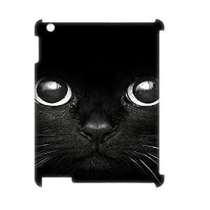 Clzpg 3D New Design Ipad2,3,4 Case - Black Cat DIY 3D plastic case
