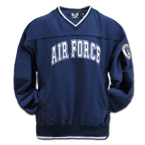 Navy Blue US United States Air Force Microfiber Pullover Windshirt Windbreaker Shirt Size -