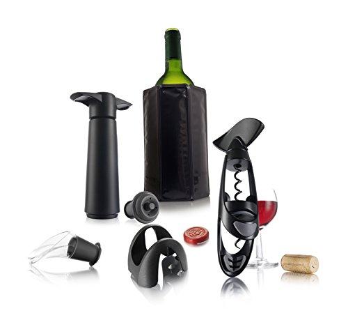 Vacu Vin 69001606 Wine Experienced Gift Set, Black, 2.1,