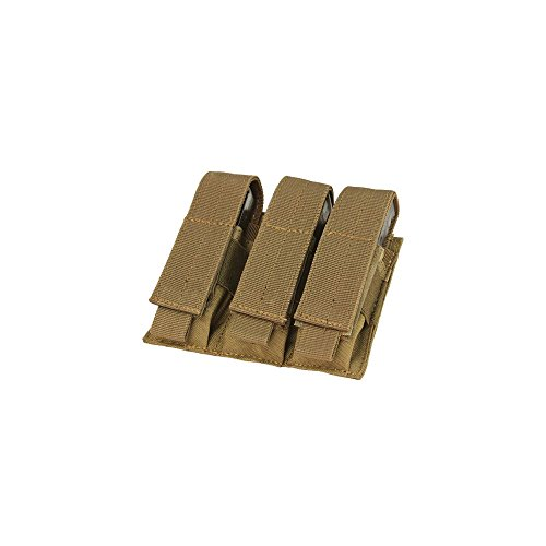Condor Tactical Triple Pistol Mag Pouch - Brown (Airsoft Pistol Mags)