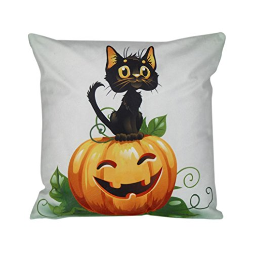 Gotd Halloween Pillow Cover Cushion Decorations (L)