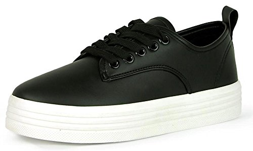 5ce16683794bb7 Refresh Footwear Women s Casual Platform Creeper Fashion Sneaker (8 B(M)  US