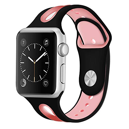 Women Color Block Silicone Band Replacement For Apple Watch 42MM,S (G)