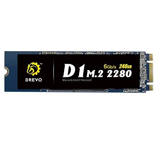 DREVO D1 M.2 2280 240GB SSD Internal Solid State Drive SATA 6Gb/s Read 500MB/S Write 500MB/S by DREVO