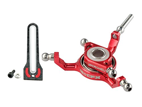 Microheli BLADE 180CFX Titanium X Swashplate w/ Anti-Rotation Guide combo (RED) - - Guide Swashplate