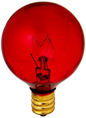 Bulbrite 306010 - 10 Watt - G12 Transparent Red - 130 Volt - 2,500 Life Hours - Amusement Light Bulb - Candelabra Base